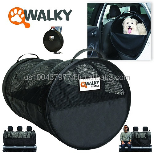 "Walky Dog Pet Tube, Car Kennel Crate, Automotive Pet Containment Barrier Kennel, Soft Pet Crate, Large, 47"" L x 24' Round"