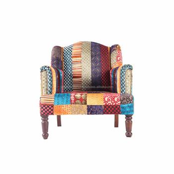 Patchwork Real De Madera Muebles Tapizados Terciopelo Multicolor ...