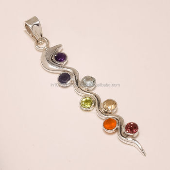 7 chakra pendant 925 sterling silver chakrasilver jewelry exporter 7 chakra pendant 925 sterling silver chakra silver jewelry exportersilver jewelry wholesale mozeypictures Image collections