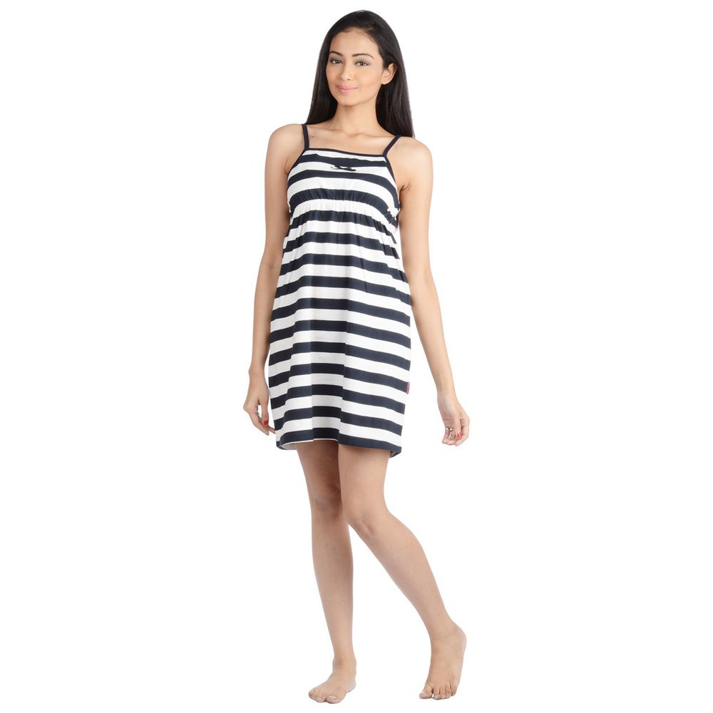 Nite Flite Women's Striped Cotton Nightie
