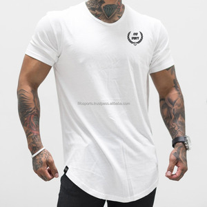 Mens curved hem t shirt scoop bottom t shirt china cheap t shirts