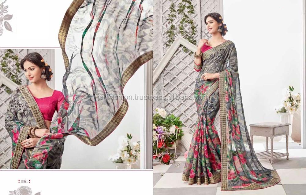 Sari indien 2017/Indien sari robe/Indien Sari Fournisseur