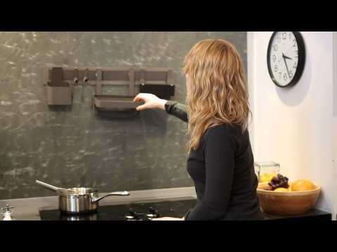 The Ridge Kitchen Rail System from Quirky