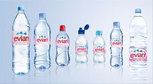 MINERAL WATER PERRIER , EVIAN , VOLVIC , VITTEL
