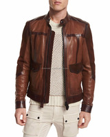 Buy Fashion Leather Jacket Made of Buffalo Oily Skipper Leather in ...