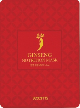 Korean Beauty cosmetics Sesamis Ginseng Nutrient Facial Mask Sheet