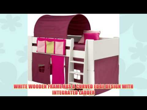 Get Quotations · Girls Bunk Bed Kids White Mid Sleeper Bed Cabin Bed with Pink Tent Tunnel u0026&;  sc 1 st  Alibaba.com & Cheap 3 Bed Tent find 3 Bed Tent deals on line at Alibaba.com