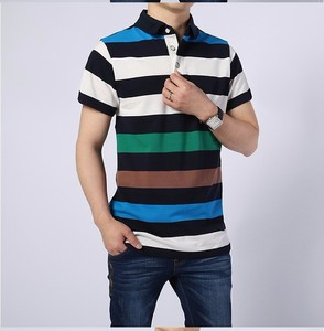Men 100% Cotton Summer Short Sleeve Polo T Shirt OEM