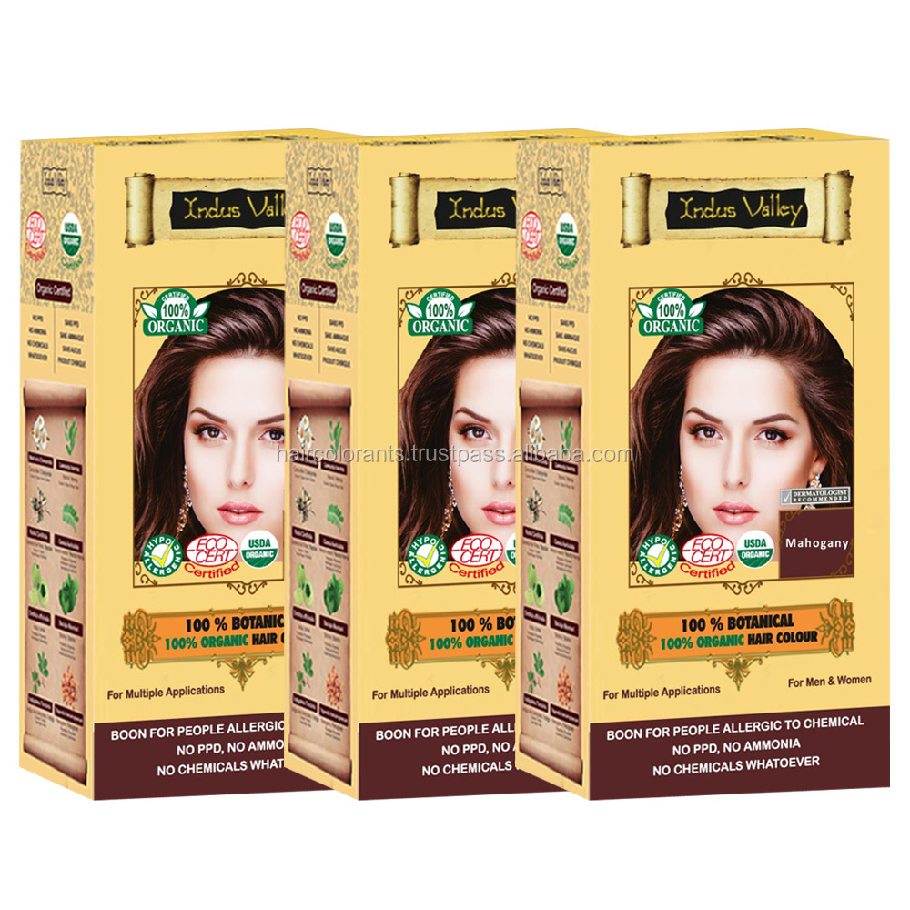100% botanical healthier organic hair color