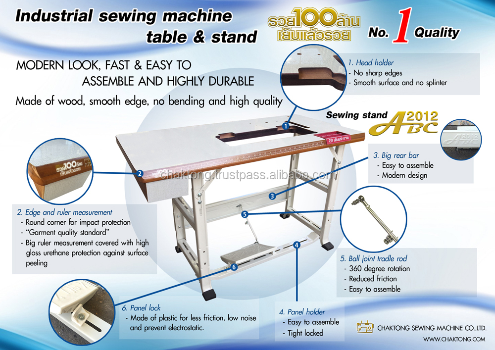 High Quality Industrial Sewing Machine Table And Stand With Mesmerizing How To Assemble Sewing Machine