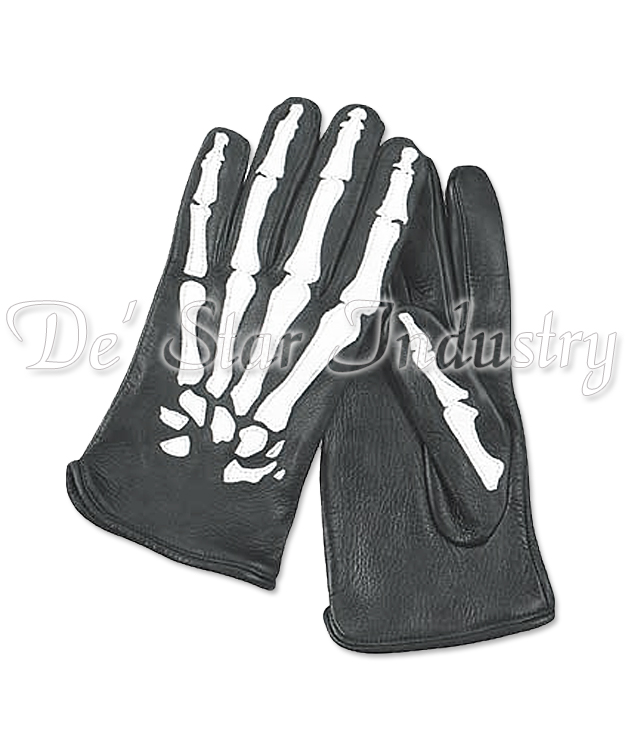 Man Fashion Sheep Leather Printed Dressing Gloves