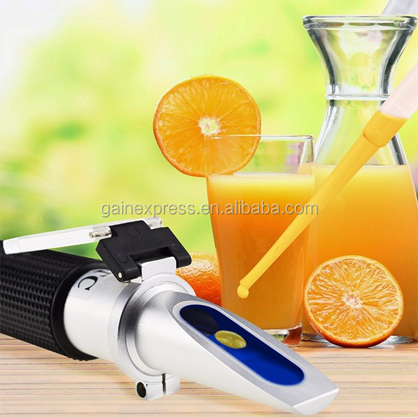Portable Traditional Brix Refractometer Measure Monitor Sugar Concentration Fruit Juice Wine 0-32% Range + ATC