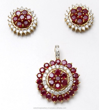 Big floral ruby diamond in concentric halopendant set design for big floral ruby diamond in concentric halo pendant set design for occasions aloadofball Images