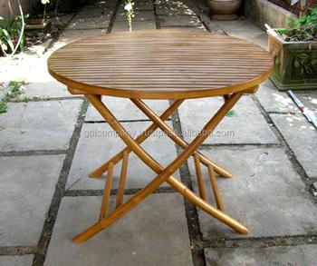 mayor] Mesa Plegable De Bambú Mesa De Comedor-redondo/cuadrado ...