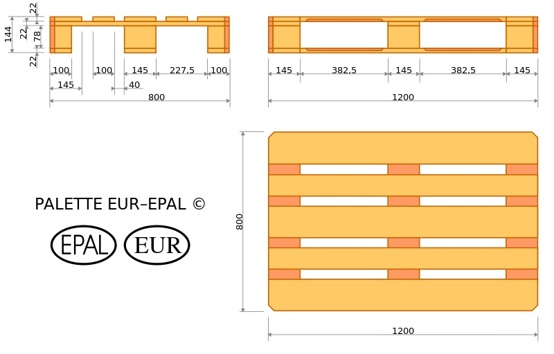 USED AND NEW EUR EPAL WOODEN PALLETS BY EURO PALLET MANUFACTURER
