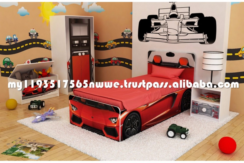 Lucky Kids - Salvia Bedroom Set: Car Bed For Kids Furniture ...