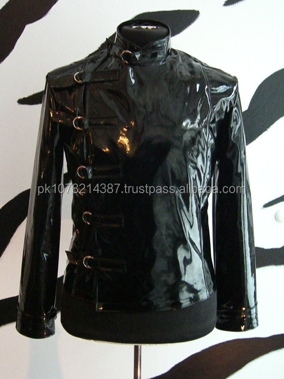 mens buckle jacket supernal clothing goth gothic fetish