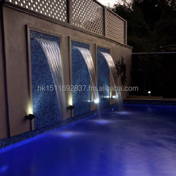 Diy Swimming Pool Water Feature Kitremote Control Led Waterfall Kit
