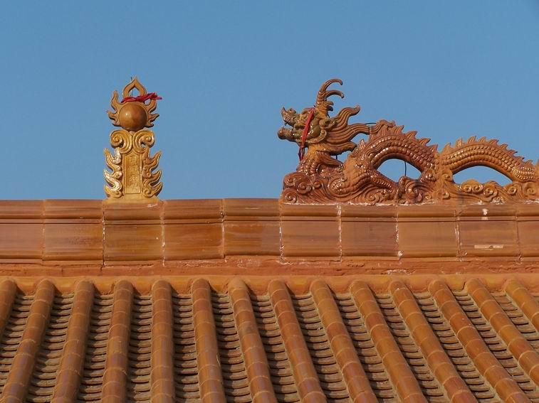 Antique Material Glazed Garden Gazebo Roof Finials For Sale