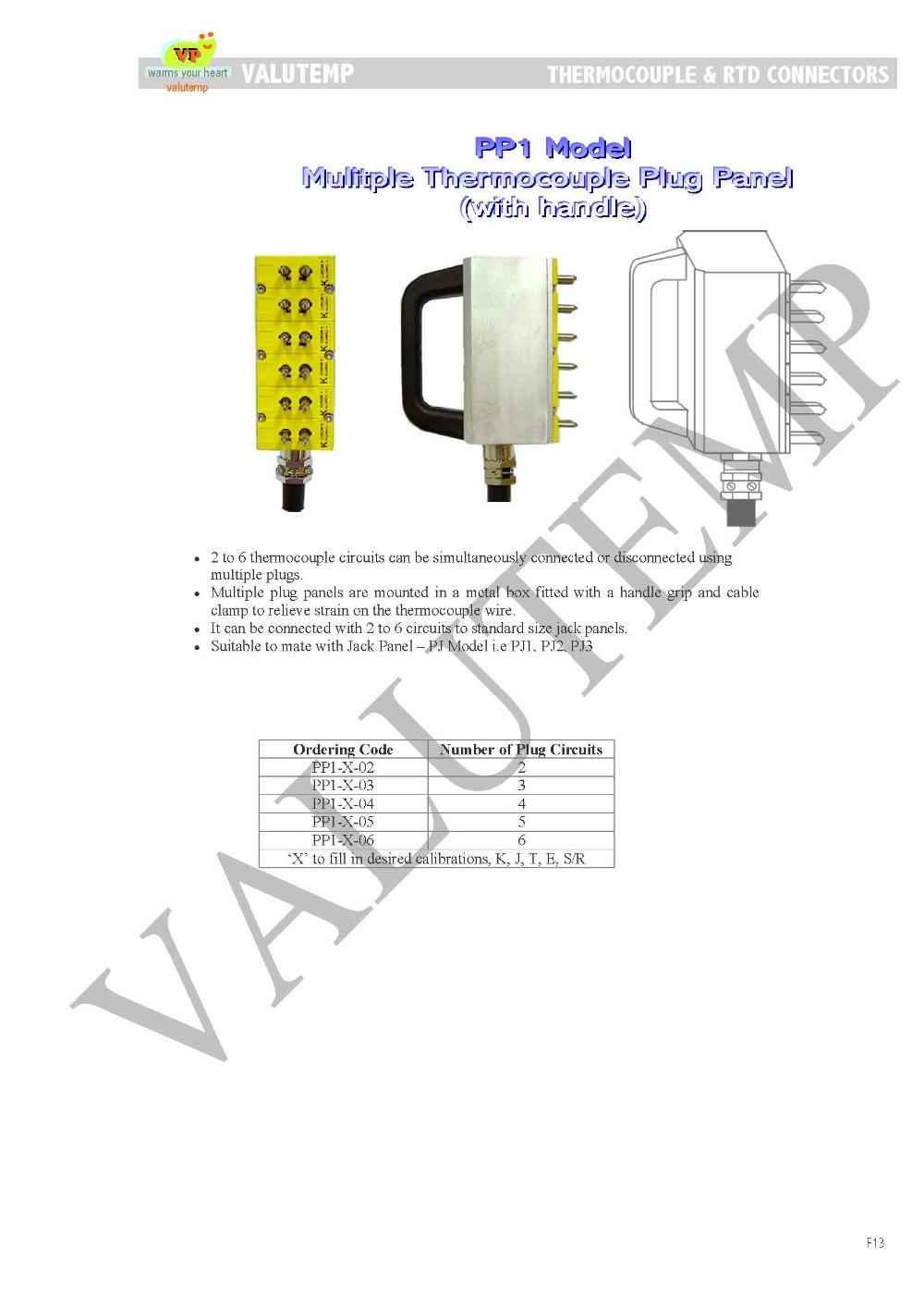 Multiple Thermocouple Plug Panel Buy Plugmini Circuit