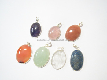 26920ed50 Assorted 925 STERLING silver 925 STAMPED Natural Stone Jewelry Gemstone  Pendants WHOLESALE