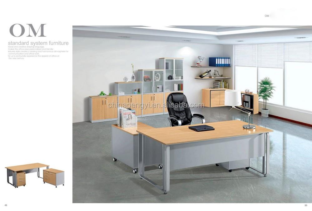 Hoge kwaliteit goedkope kleine kantoormeubilair u vormige bureau