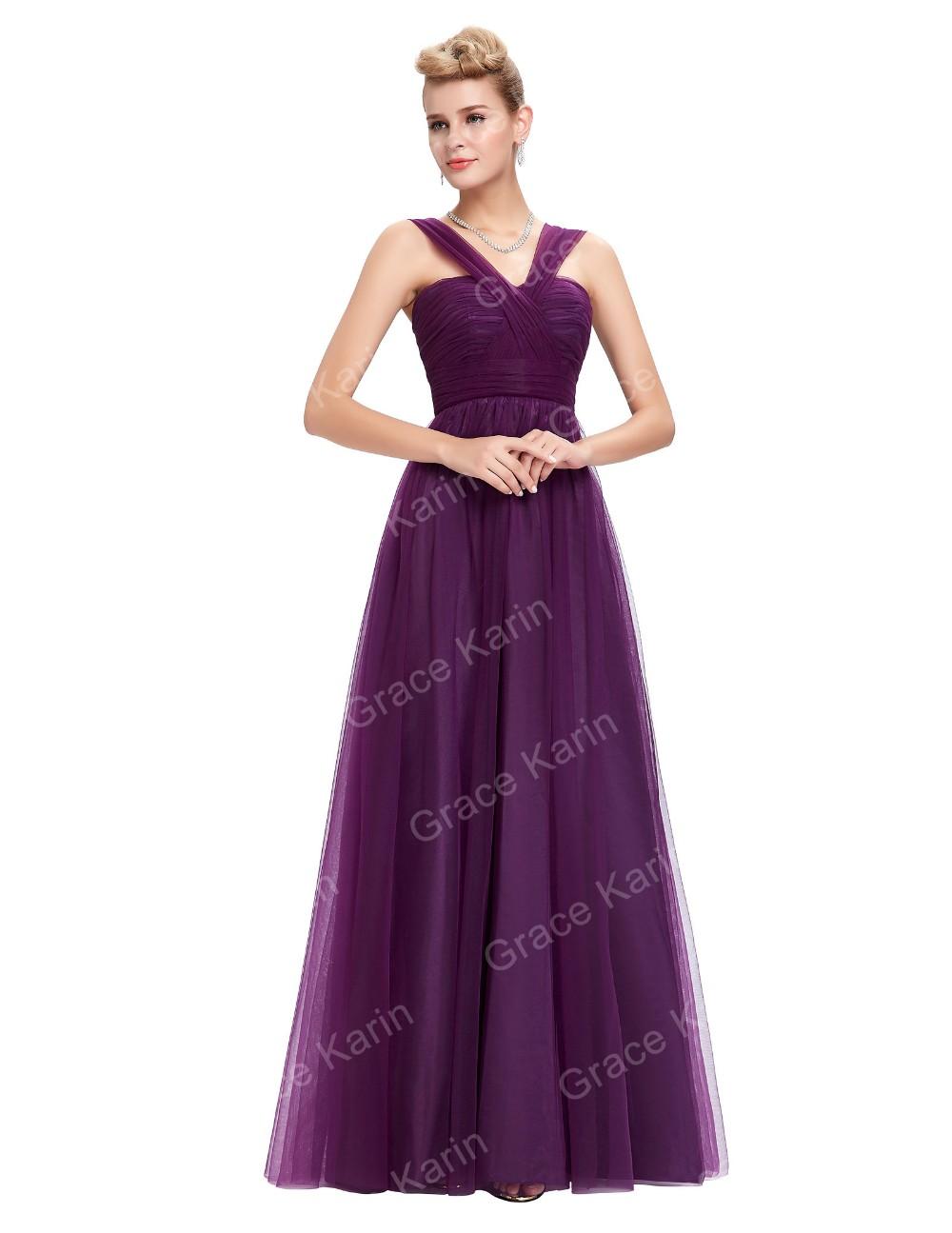 Grace Karin Elegant Latest Party Gowns Designs Sleeveless Purple ...