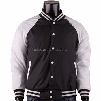 Varsity Jacket Made Of Satin Silk Fabric Custom Made Bomber