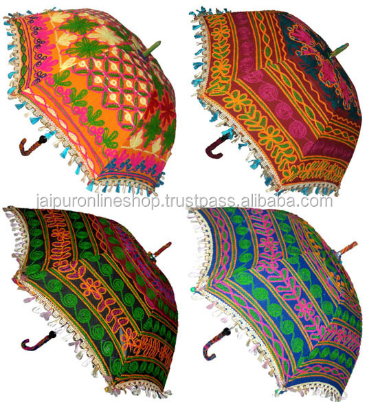 Wedding Famous Embroidery Parasols / Indian Garden Umbrella/Cafe Umbrellas  / Hotel Decor Umbrella Parasol
