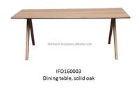 Oak dining table, solid oak wood from Vietnam
