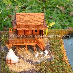 Weihnachtsgeschenk thai traditionelles teakhaus miniatur for Traditionelles thai haus