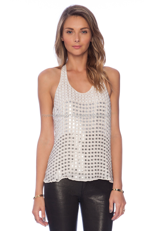 Redrv77 Ladies Latest Design Poly Blend Modern Girls White Tunic ...
