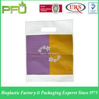 LDPE PRINTED BAGS WITH DIE CUT KIDNEY HANDLE