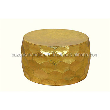 Incredible Gemoratic Hammered Gold Leaf Metal Coffee Table Decorative Metal Table Antique Table Buy Indian Metal Coffee Tables Leaf Shaped Coffee Table Round Gamerscity Chair Design For Home Gamerscityorg