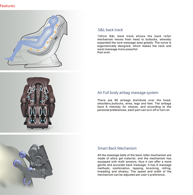 Chair zero gravity massage recliner chair full body osim massage chair - 2017 New Massage Products Dla02 L Shape Massage Chair