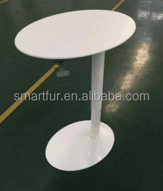 Gas Spring Lift Height Adjustable White Dining Table Base
