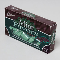 CANDY MINT FAVORS CHOCOLATE 4OZ THEATER BOX IN 96CT FLOOR DISP #60228