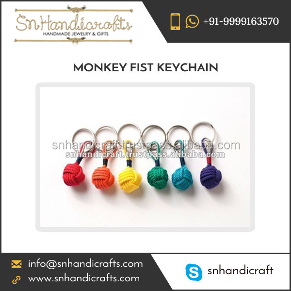 Excellent Quality Rope Key Chain Monkey Fist for Home and Office Use