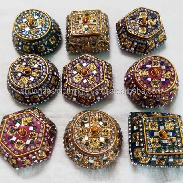 pour le stockage et laffichage des bagues Bo/îte /à bijoux en verre 8 x 7 x 4,5 cm des boucles doreilles et des fleurs bo/îte /à bijoux g/éom/étrique Dor/é