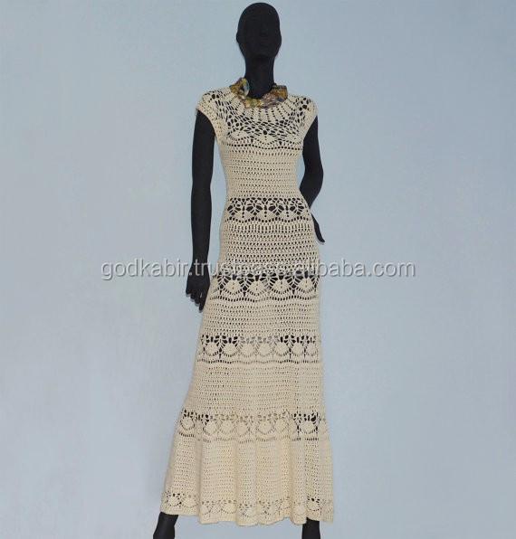 Handgemachte Gestrickte Kleider,Crochet Maxikleid Muster,Designer ...