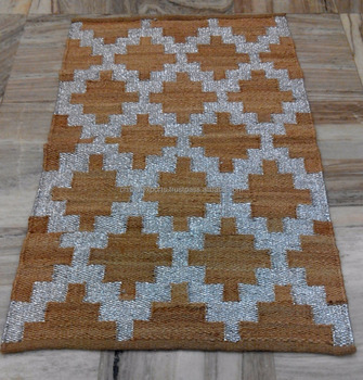 Jute Hemp Metallic Rugs Jaipur Indian Jute Rugs Buy