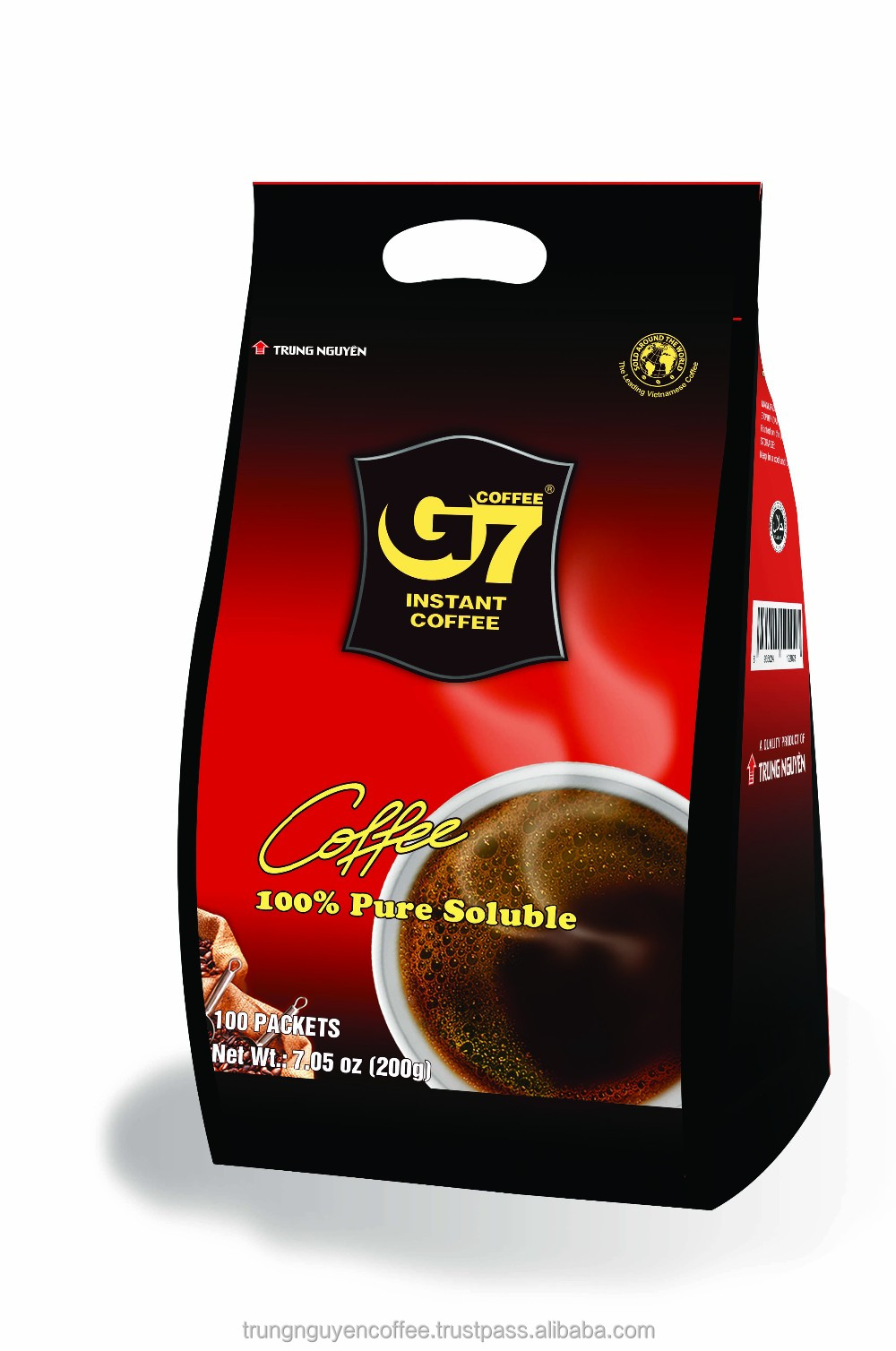 G7 Pure Black Instant Coffee (bag 100 Sachets)
