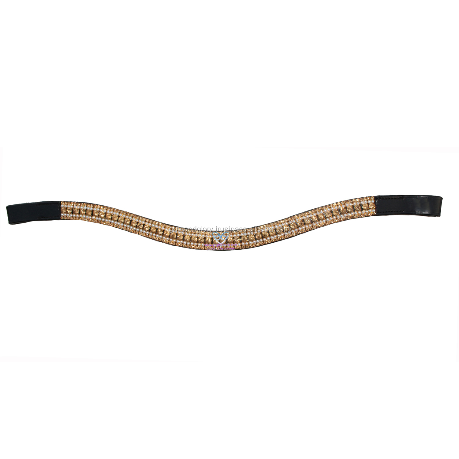Diamante Leather Browbands