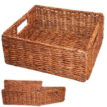 Natural Fiber Storage Woven Basket With Lid