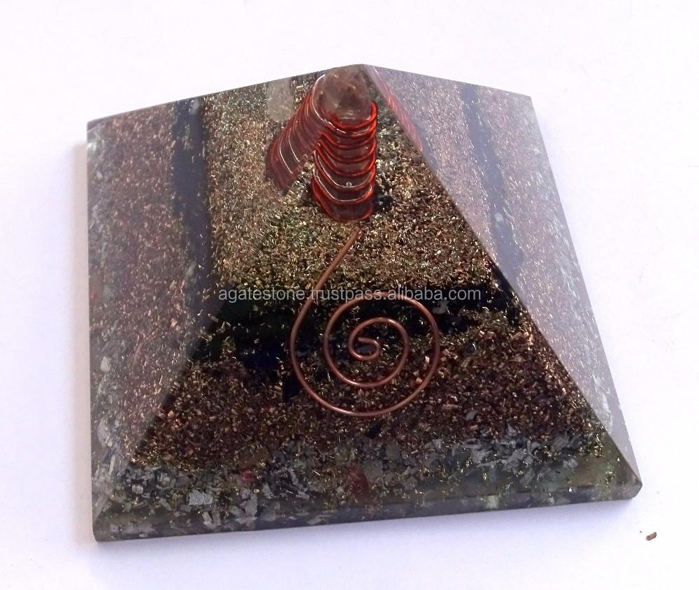 Sammeln & Seltenes 7 Chakra Stein Orgon Pyramide Edelstein Pyramide Energie Heilende Kristall