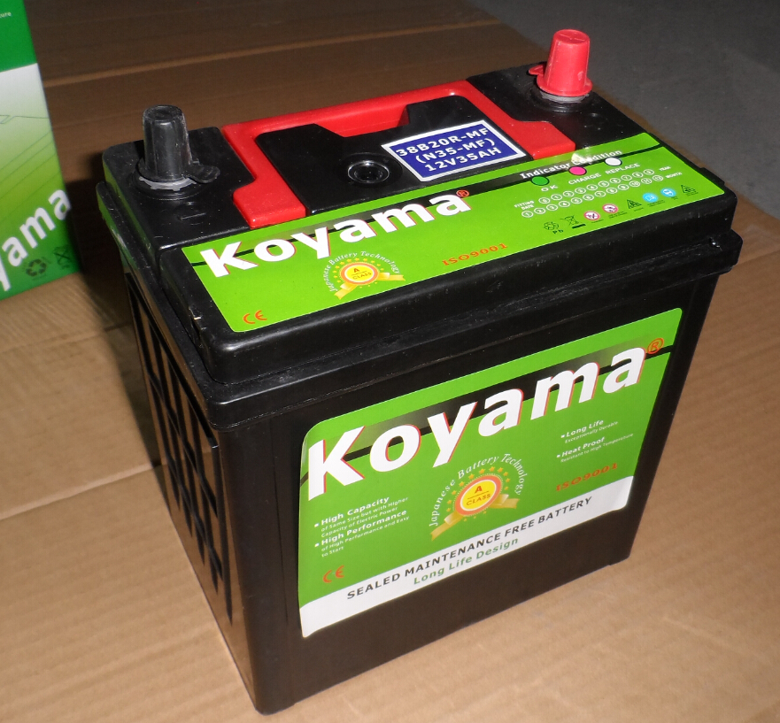 12V 36AH MF Start Car Battery 38B20R