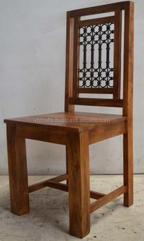 Solid Mango Wood Iron Jali Chair & Solid Mango Wood Iron Jali Chair - Buy Antique Wood ChairRestaurant ...