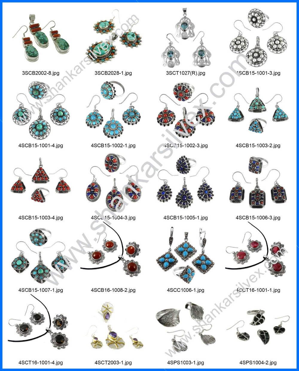 Wedding fashion coral & turquoise gemstone attract jewelry set 925 sterling silver jewellery wholesale silver sets