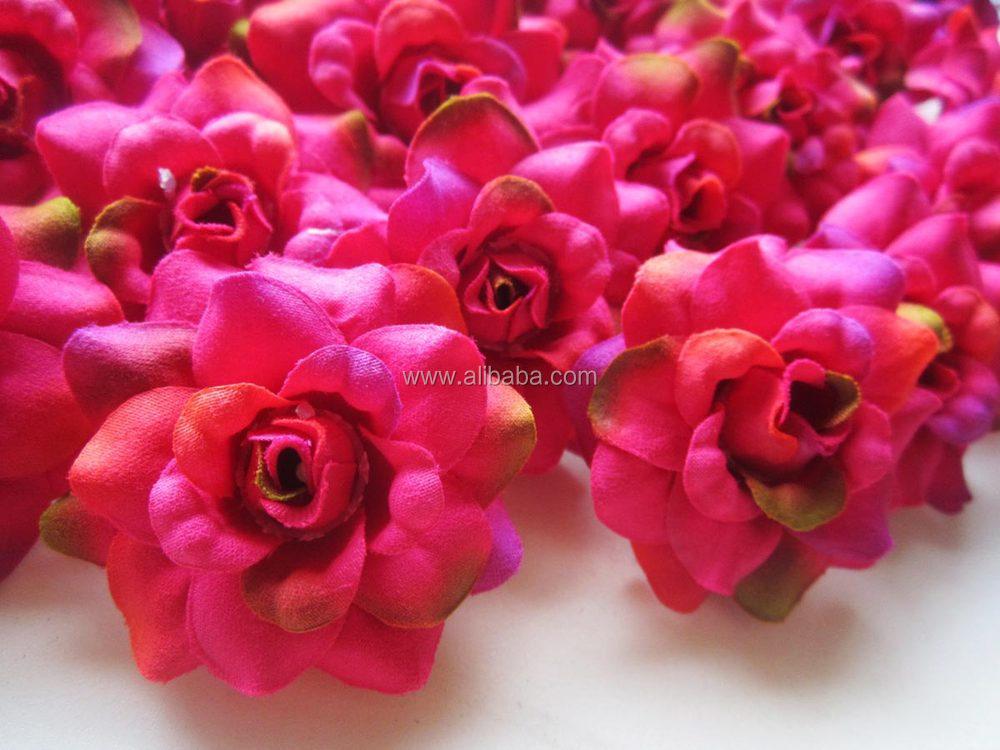 Hochwertige Kunstliche Seidenblumen Bordeaux Rose Kopfe Fur Hochzeit