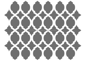 Wall Stencilmoroccan Stencils Template 148 X 117 Buy Stencil